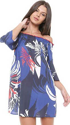 Morena Rosa Vestido Morena Rosa Curto Ombro a Ombro Azul