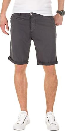 Yazubi Mens Summer Chino Shorts Slim Travis Casual Cotton Plain Pants Smokey Cloud, Dark Grey (11933), W30