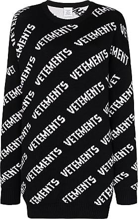 VETEMENTS Suéter com padronagem de logo - Preto