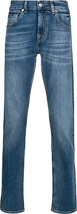 7 For All Mankind Calça jeans cenoura Slimmy cintura média - Azul