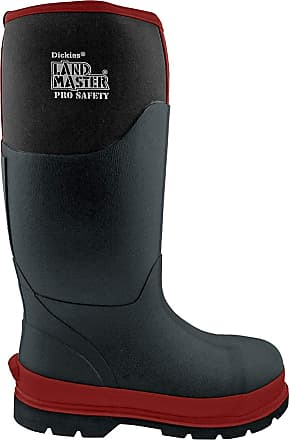 Dickies LANDMASTER PRO SAFETY BLACK/RED REFLECTIVE NEOPRENE BOOTS WELLIES FW9902-UK 12 (EU 47)