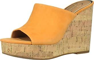 Jessica Simpson Womens Shantelle Slide Sandal, Tangerine, 5.5 UK