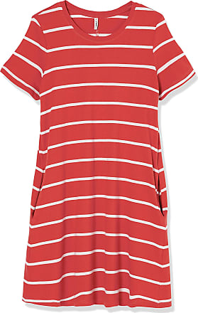 Only Womens ONLMAY Life S/S Pocket A-LINE Dress JRS, Mineral Red, M