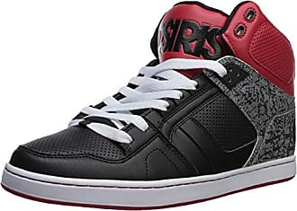 4da196825de Osiris Mens NYC 83 CLK Skate Shoe, Black/red/Silver, 9 M