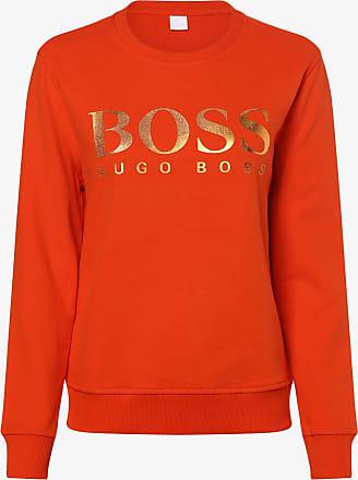 HUGO BOSS Damen Sweatshirt - Tastitch orange