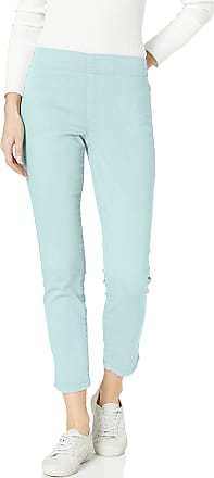 NYDJ Womens Pull ON Skinny Ankle Jean with Side Slit, Blue Glow, 10