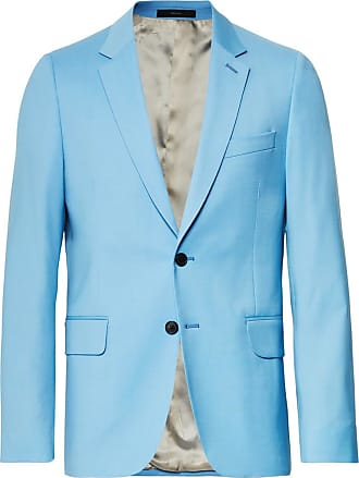 Paul Smith Light-blue A Suit To Travel In Soho Slim-fit Wool Suit Jacket - Light blue