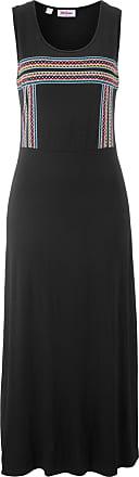 4309c695a42f John Baner Jeanswear Dam Trikåklänning, med tryck i svart utan ärm - John  Baner JEANSWEAR