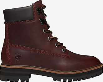 7bc1719cd734d Timberland Bottines en cuir crantées London Square Rouge Timberland