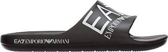 Emporio Armani EA7 Men Slides Black 9 UK