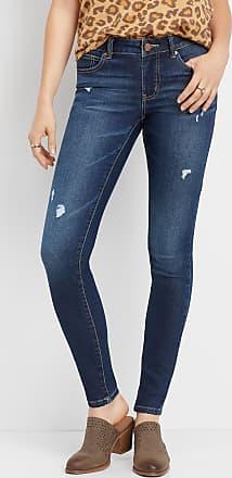 2c795189b Maurices Everflex Mid Rise Dark Stretch Skinny Jeans