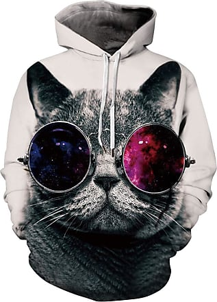 EUDOLAH 3D Prints Pullover Jumpers Breathable Hoodies Patterned Sweatshirts for Mens Size S M L XL 2XL 3XL (Tag 2XL/3XL, cat 460)