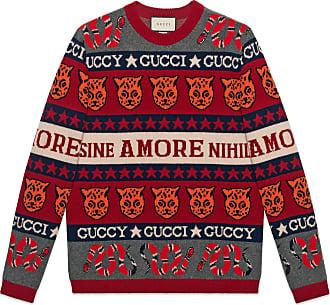 Gucci Maglione in lana jacquard con simboli e7cb4b49f6e