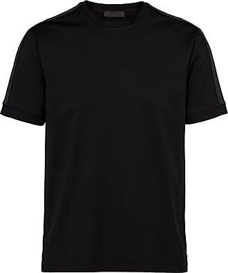 Prada Camiseta com aplicação de tricô - Preto