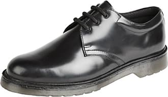 Mens Grafters Safety Smart Work Shoes Black Leather Air Cushion Size 4-12 UK