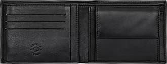 Nuvola Pelle Portafoglio Uomo in Pelle con Portamonete Porta Tessere Documenti e Portafoto Trasparente Nero