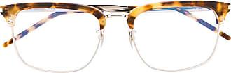 Saint Laurent Eyewear Armação de óculos retangular SL346 - Prateado