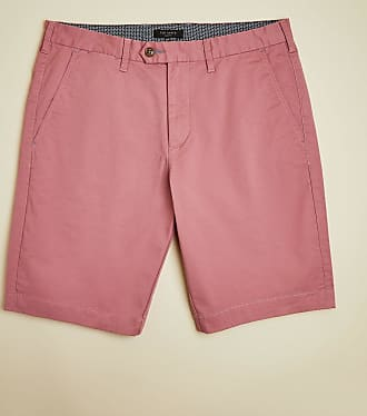 Ted Baker Cotton Chino Shorts in MID-PINK PROSO, Mens Clothing