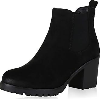 Scarpe Vita Women Bootee Chelsea Boots Lined Tread Sole 165730 Black UK 5.5 EU 39