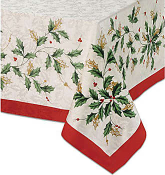 Lenox Golden Holly 60-inch by 104-inch Oblong / Rectangle Tablecloth