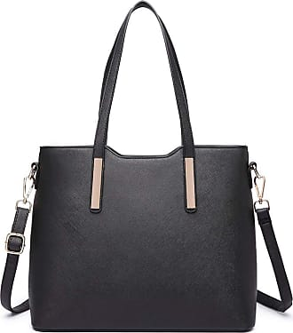 Quirk Three Piece Tote Shoulder Bag And Clutch Black