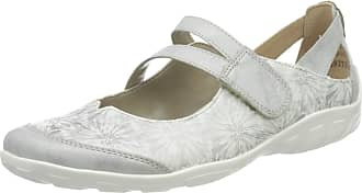 Remonte Womens R3427 Ankle Strap Ballet Flats, Silver (Ice/Weiss/Silber 80), 3.5 UK