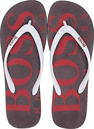 bdb01c9c5cb HUGO BOSS BOSS Green Mens Wave Thong Rubber Sandal Flip-Flop