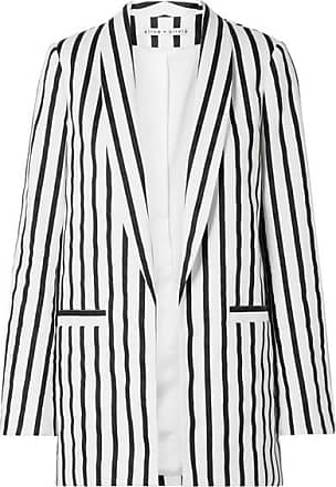 Alice & Olivia Kylie Striped Cotton-blend Twill Blazer - Black