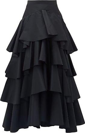 Giambattista Valli Tiered Ruffled-taffeta Maxi Skirt - Womens - Black