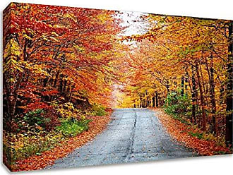Tangletown Fine Art Autumn Afternoon Gallery Wrap Canvas Red/Yellow/Green