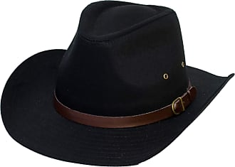 Hat To Socks Cowboy Cotton Hat (59 cm, Black)