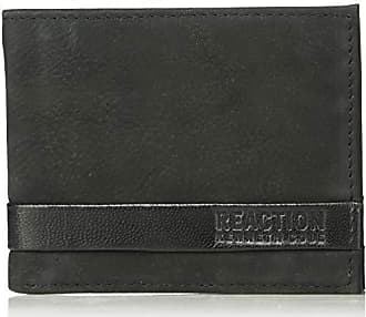 Kenneth Cole Reaction Mens RFID Blocking Security Passcase Bifold Wallet, black Sibley One Size