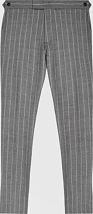 Reiss Tijuana - Pinstripe Slim Fit Trousers in Grey, Mens, Size 28