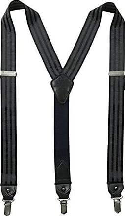 Tommy Hilfiger Mens 32mm Suspenders,Black/Grey, One sizee