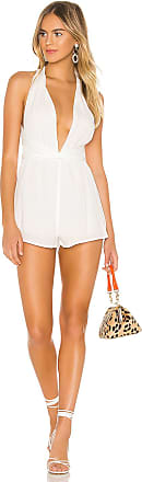 Superdown Lilia Halter Romper in White