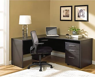 Unique Furniture 100 Collection Corner L Shaped Desk Espresso - 1C100003LES