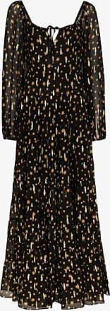 Rixo Womens Black Cameron Star Print Maxi Dress