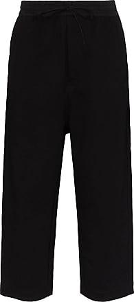 Yohji Yamamoto cropped jogging bottoms - Black