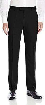 Kenneth Cole Reaction Kenneth Cole Reaction Mens Urban Heather Slim Fit Flat Front Dress Pant, Black, 32Wx32L