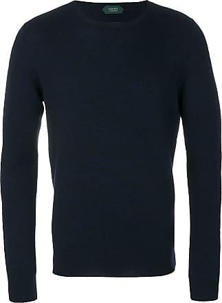 Zanone Suéter de tricô com textura - Azul
