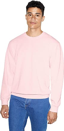 American Apparel Mens French Terry Long Sleeve Crewneck Pullover Sweatshirt, Faded Light Pink, Medium