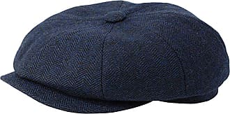GFM Wool Baker Boy Hat - 8 Panel in Grey Herringbone Pattern Newsboy Cap (GN168-NLBH-59 cm)