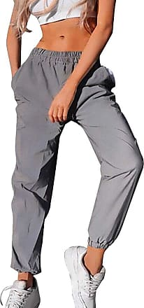 junkai Autumn Fashion Women High Waist Patchwork Pants Pencil Pants Streetwear Cargo Pants Loose Jogger S-3XL Grey