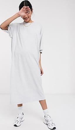 Weekday Ines - Graumeliertes Kleid aus Bio-Baumwolle