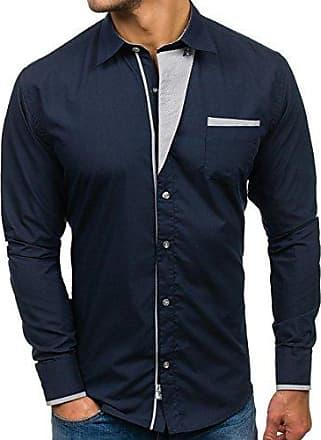 Freizeithemd Herrenhemd Shirt Hemd Classic Slim Fit Herren BOLF 2B2 Unifarben