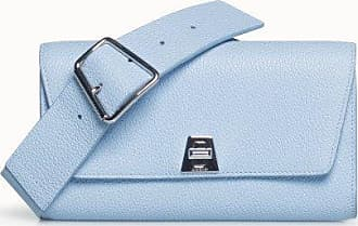 MQaccessories Belt Bag in Cervo Structured Nappa Leather with Detachable Belt