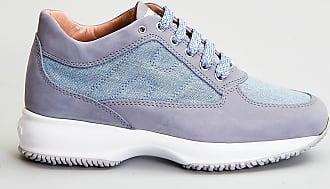 Reposi Calzature HOGAN Interactive - Sneakers in nabuk e tessuto azzurro