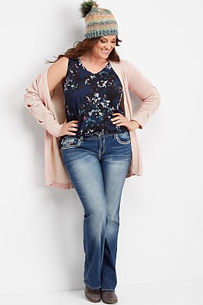 9e625592408 Maurices Plus Size - Vigoss Dark Wash Thick Stitch Bootcut Jean