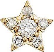 Zoe & Morgan Gold Alcyone Star Diamond Ohrstecker - One Size - Gold/White