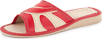 Ladeheid Women´s Natural Leather Shoes Slippers Flipflops LABR20 (Red, 5 UK)